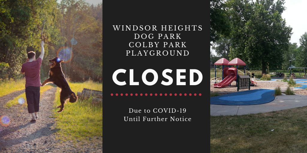 Playground and dog park closed