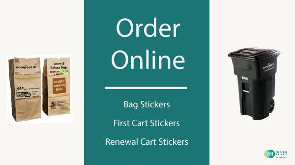 order yard waste stickers online