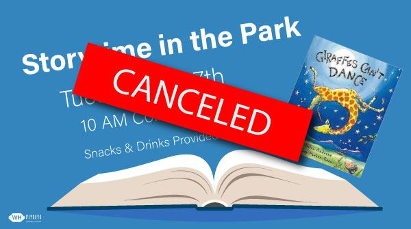 canceled storytime in the park summer 2020