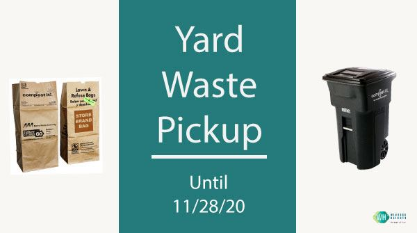 yard-waste pickup ends 11-28-20