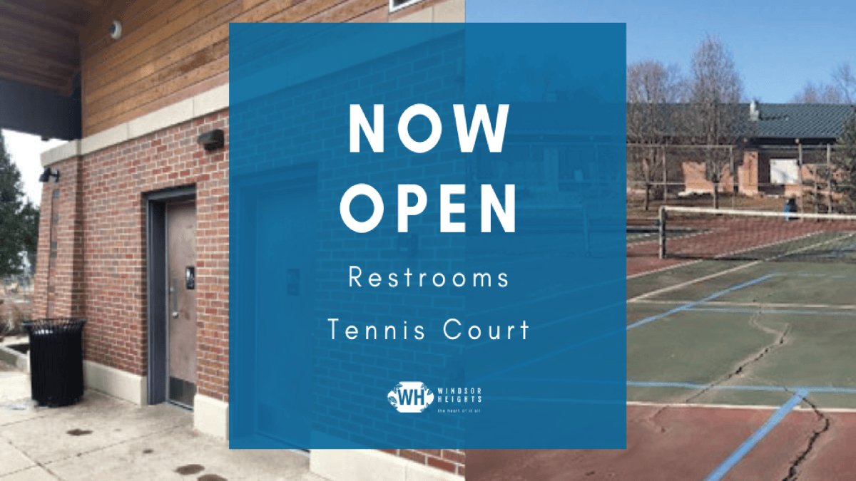 bathrooms and tennis court open for spring