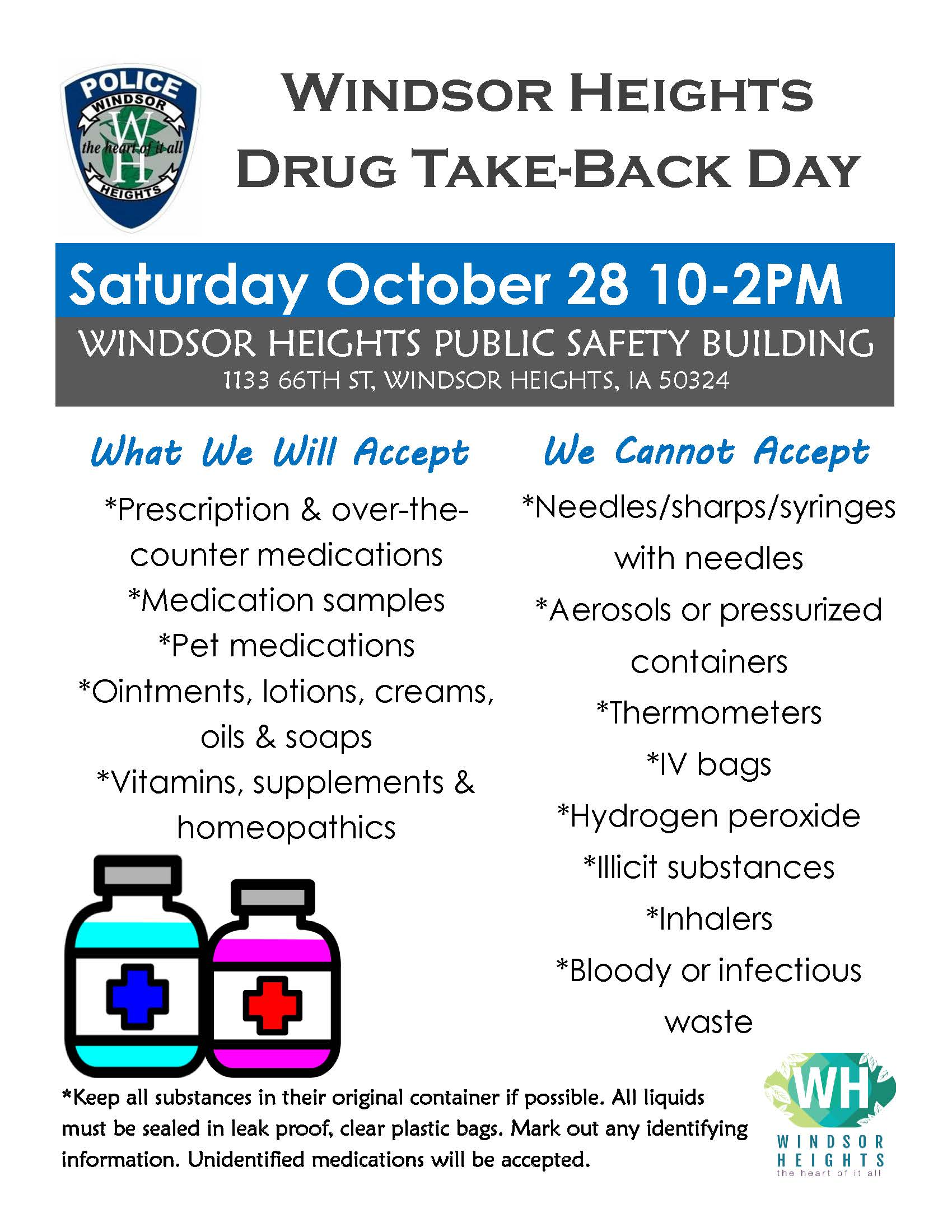 Drug Take- Back Day Flyer