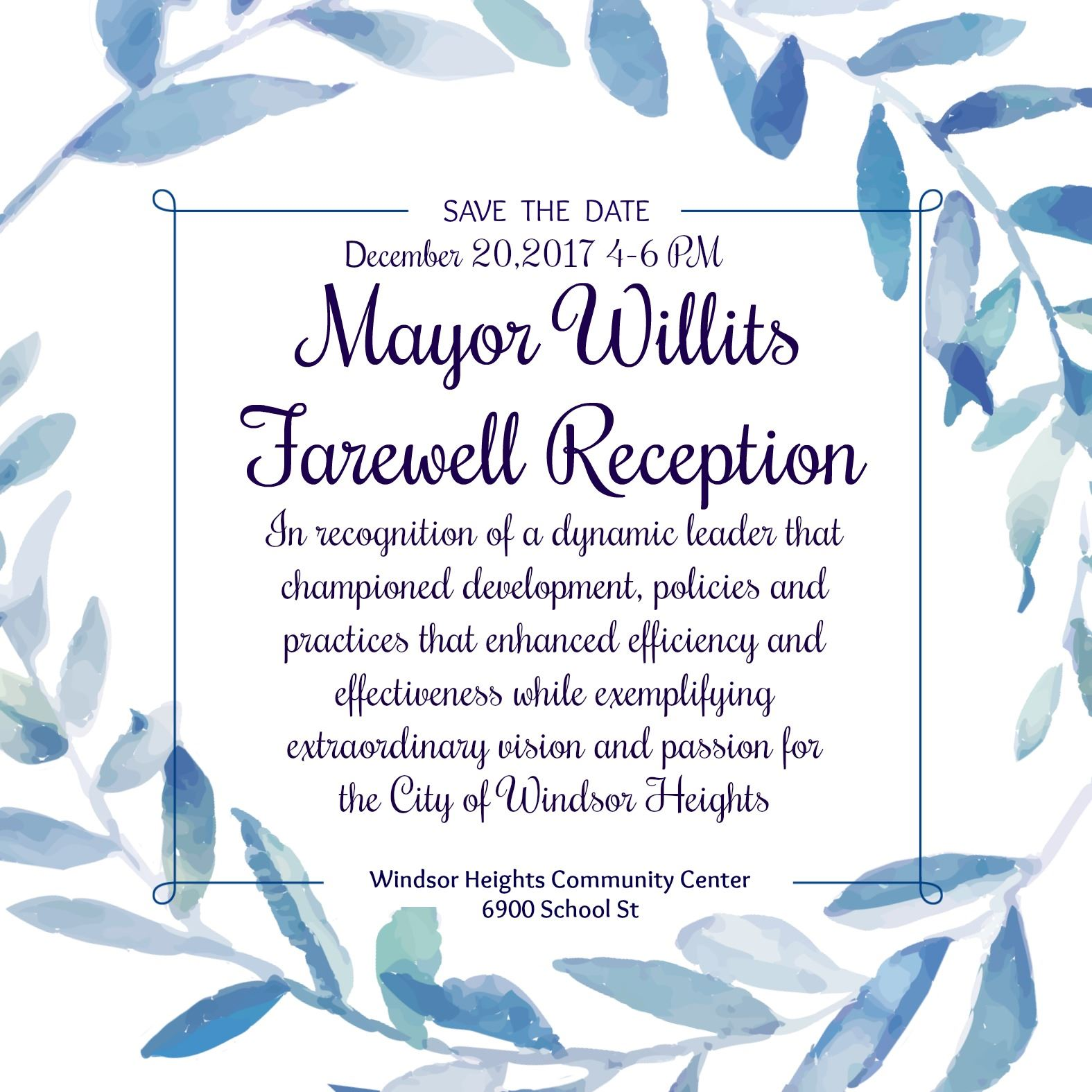 Mayor Farewell