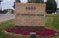 City Administrative Offices sign